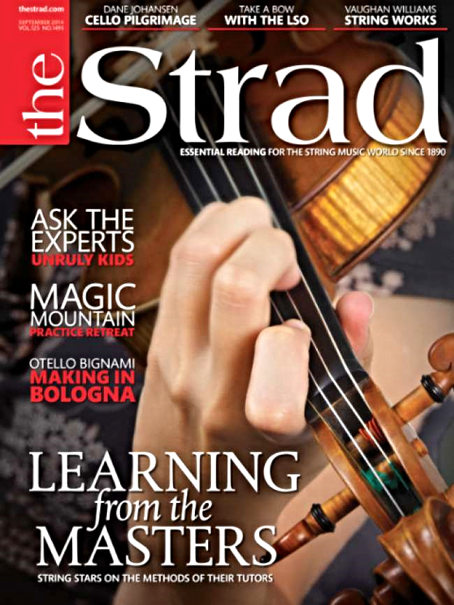 READ ABOUT DANE'S ADVENTURE IN THE SEPTEMBER 2014 ISSUE OF THE STRAD MAGAZINE