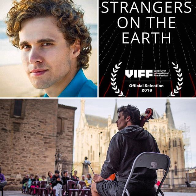 One of the many voices in #StrangersOnTheEarth ,Cellist Dane Johansen will participate in a Q&A after the #worldpremiere screening @viffest with director Tristan Cook #caminodesantiago #pilgrimage #independent #film #bach #cello #october #2nd