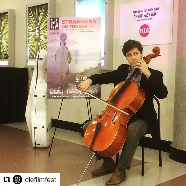 @djcellist shares some #classicalmusic before a sold out screening of #StrangersOnTheEarth #ciff41 #repost @clefilmfest CC: @cleveorch
