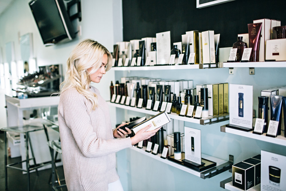 shop products - Shop our favorite products from Oribe and R+Co or purchase gift certificates.