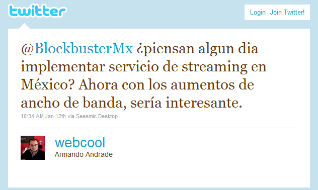 ¿Servicio de Streaming en México?