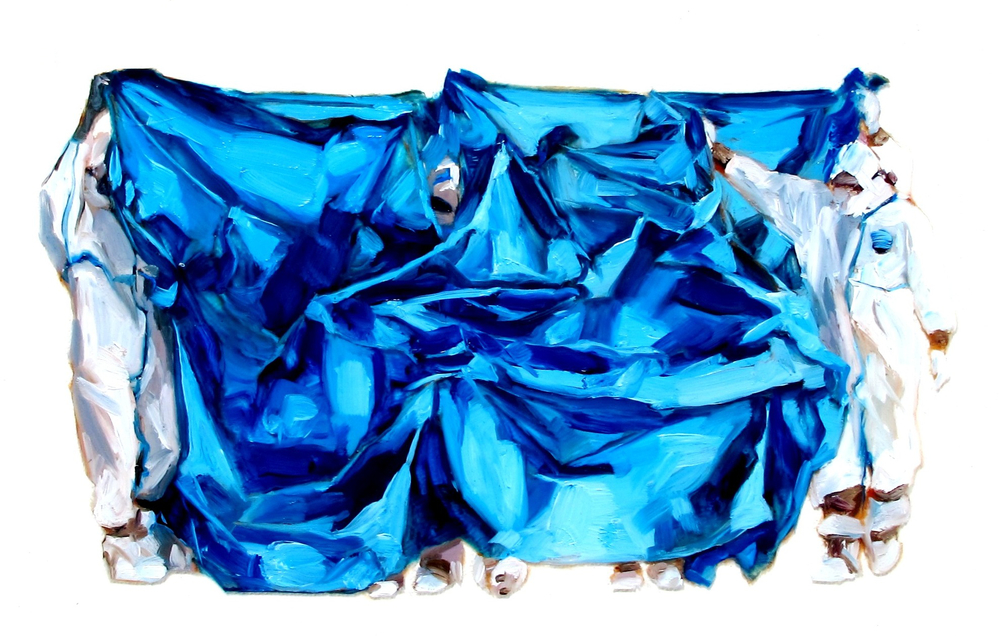 blue tarp : fukushima