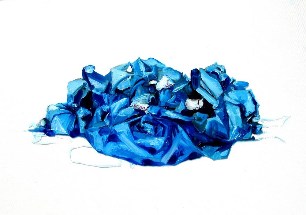 blue tarp : hanami garbage