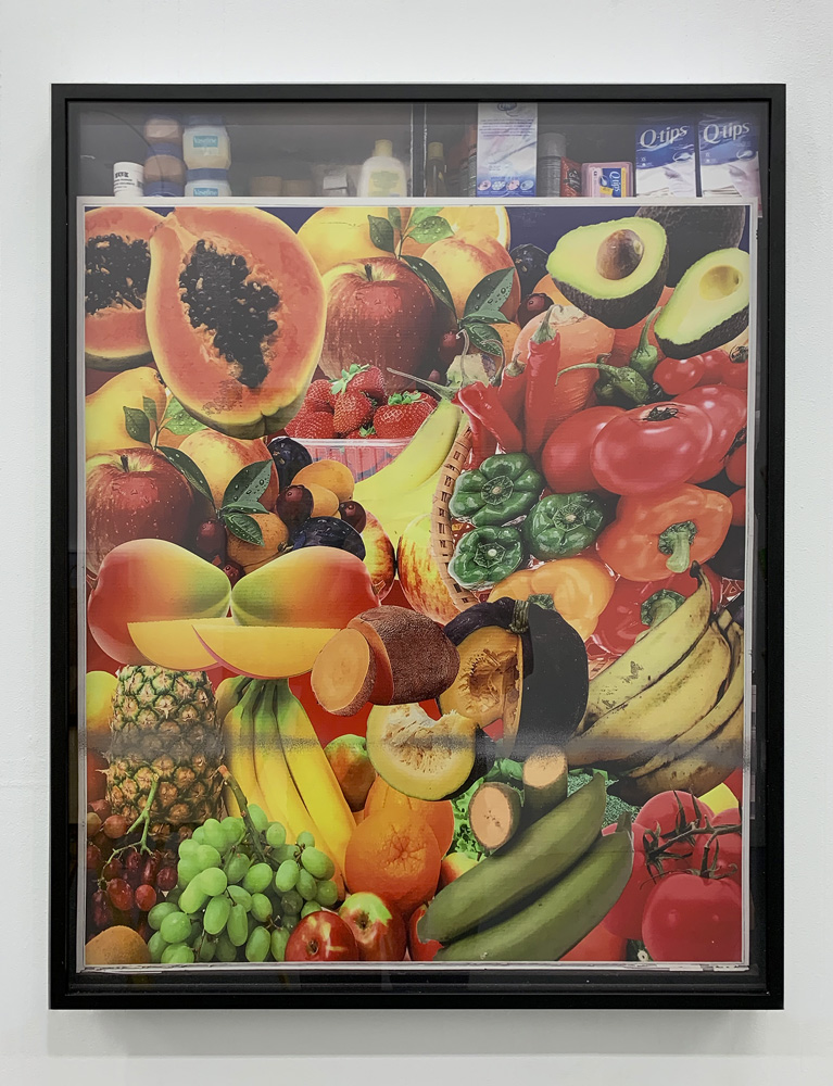 Untitled, 2018, UV print on sintra, aluminum frame, 30x24""