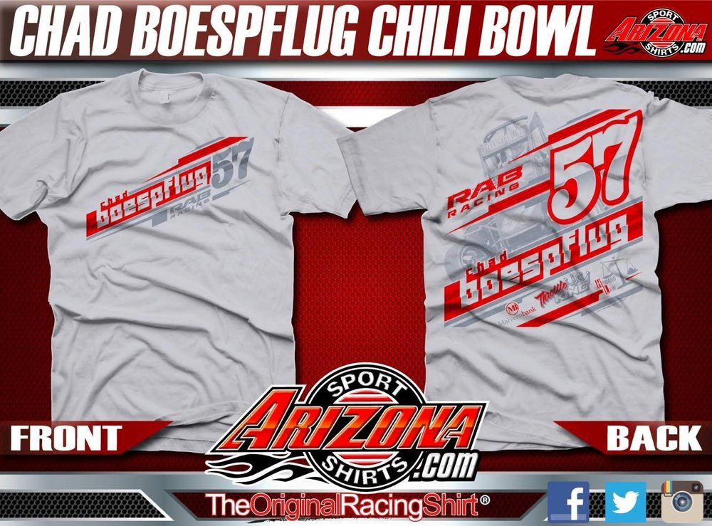 Pre-Order Chad Boespflug 2017 Chili Bowl Apparel Now