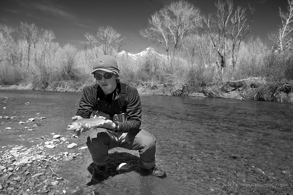 A young Picabo Angler guest on the Lower Big Lost River. Late April, 2014.