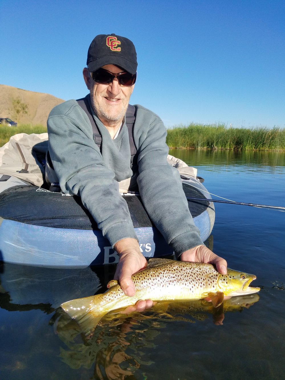 Chuck Huber and a gorgeous Brown Trout from Silver Creek, Idaho