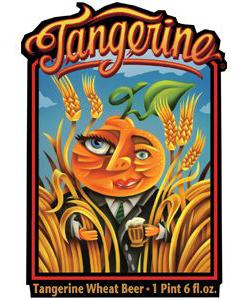 Tangerine Wheat    (ABV 5.0%)    A refreshing citrus ale, lost coast tangerine wheat combines the lost coast harvest wheat with natural tangerine flavours. brewed with a comination of wheat and crystal malts and finished with perle hops.
