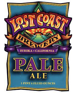 Lost Coast Pale Ale    (ABV 5.2%)    this highly hopped california style pale ale showcases the brewer's art of balancing malt and hop characteristics. a generous addition of munich malts balances the bittering from chinook hops, and cascade hops round out the flavour profile.
