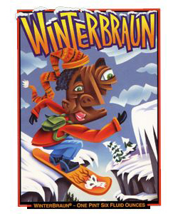 Winterbraun    (ABV 8.0%)    a full-bodied, brown ale with a rich chocolate taste created roasted chocolate and caramel malts. topped with czech saaz hops to give it a spicy flavour and aroma.