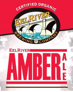 Amber Ale    (ABV 4.8%)    as eel river brewing company's first certified organic beer, the amber ale is a medium-bodied, wih a hoppy bouquet, with a distinctive rich taste. a caramel-like sweetness is balanced with a liberal dose of certified organic hops.