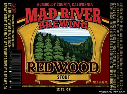 Redwood Extra Stout    (ABV 6.5%)    A black, opaque and sweet stout with a rich creamy roasted chocolate malt character and a very mild hop complement. A smooth and pleasing dessert beer.