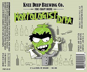 Hoptologist Double IPA    (ABV 9.0%, IBU 102)    Hoptologist Double India Pale Ale. An American Double India Pale Ale that packs a punch when it comes to hops. The aroma and flavors will give you citrus and pine with a slight malt sweetness that finishes dry.