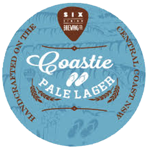Coastie Pale Lager     (ABV 5.0%, IBU 12)    The beer itself uses Summer hops designed to give aroma of melon and lemon myrtle while a touch of dry hopping with the same variety gives a slightly sweet finish that complements a breadiness from the malt. At 5 percent ABV and a mere 12 IBUs of bitterness, it's pretty easy to imagine what this beer is like and the sweet spot it can hit as you pull up to the bar having spent the day in the sun. And, since they popped it in cans and sent the beer far and wide, you can bet that it's hitting a lot of sweet spots.