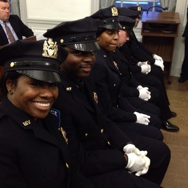 Detective Montika Jones and Detective Wendell Griffin, along with the others promoted to Detective at the ceremony.