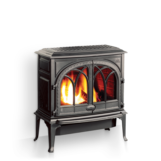 Jotul's GF 400 DV Sebago was designed with function, fashion, and high efficiency in mind. The stove features Jotul's cast iron and stainless steel JotulBurner, a hand crafted log set and double articulating doors. Popular options include brick interior and blower. Also available in a B-Vent model.