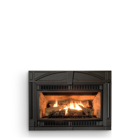 Jotul GI 450 DV II Katahdin gas fireplace insert is not afraid of the cold.  IPI electronic ignition, battery back-up, fan and top firing accent lights are features of this achievement in gas technology.