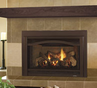 The Grand-I35 is the largest of the gas metal inserts. It is highly-efficient and ideal for larger hearth openings. Intricately-detailed logs and glowing embers add authentic ambiance to the Grand's impressive heating power.