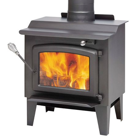 The S244 is a high efficiency wood stove among the smallest on the  market.  This leg model is EPA certified.  The S244 is ideal for small  areas that require a limited heating capacity without compromise on the  appliance efficiency.