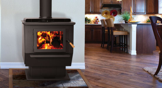 "King  	 (Extra large catalytic wood stove)  Heats 1,500 – 3,000 Square Feet  	40 Hour Low Burn Times  	Thermostatically Controlled  	4.32 Cubic Foot Firebox  	Max Heat Input 703,390 BTUs  	88% LHV Efficiency (82% HHV)  	51,582 BTU's/h constant output for 12 hours  	Up to 23"" Log Length  	EPA Emissions 1.76 gr/hour"