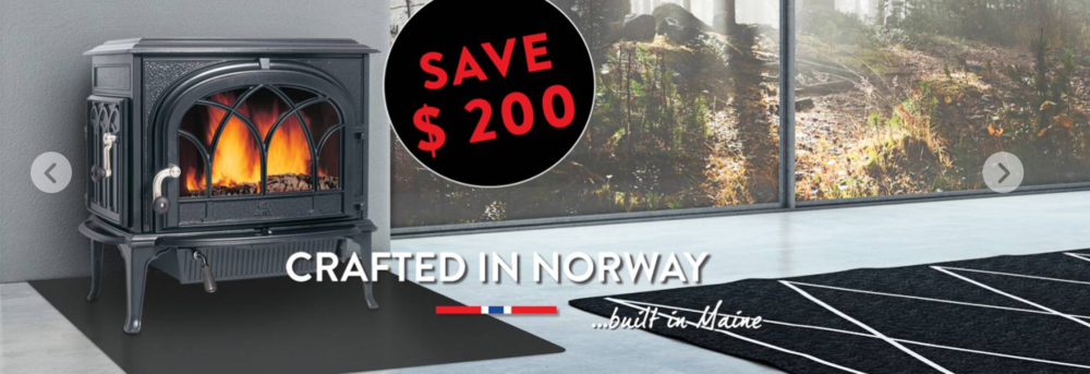 Save $200 on all Jøtul Stoves & Fireplace Inserts Warm up this holiday season! Save BIG this holiday on all Jøtul stoves and fireplace inserts. This Jøtul Online Coupon is valid for a savings of $200.00 off the retail purchase of a Jøtul stove or fireplace insert at a participating Authorized Jøtul Dealer. • Limit of one coupon per purchase • Cannot be combined with other Jøtul offers or promotions • Valid only on a new Jøtul appliance purchased at retail in the US between November 21, 2015 and December 31, 2015 • This coupon must be applied at the time of retail sale • Not valid on venting, delivery or installation • Valid only at participating Authorized Jøtul Dealers • This coupon has no cash value Promotion ends 12/31/2015