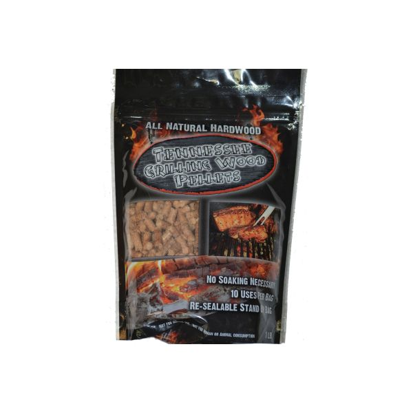 Competition blend hardwood grilling pellets made in Jasper, Tennessee.  Tennessee Grilling Pellets have a consistent burn rate with no hot coals or flare-ups.