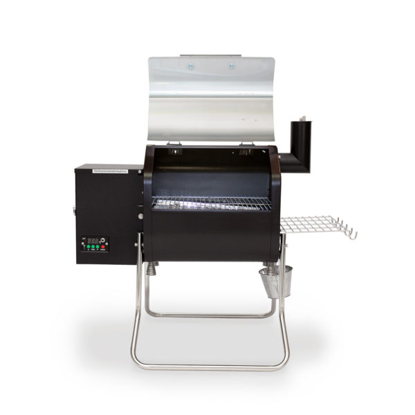 This is the go-to grill for small families, campers, tailgaters, RVers, and anyone else who wants to cook two racks of ribs or 4-6 nice steaks or a bunch of burgers. Wi-Fi control is standard equipment! Feature packed and v e r y affordable!