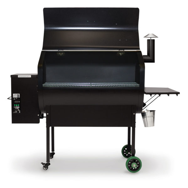 Grill enough burgers for a block party with Green Mountain's largest backyard model.  Wi-Fi control, too!  Available options include a stainless steel no-warp lid, form-fitted grill cover, and a dome thermometer.