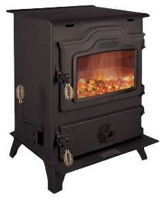 The Mark II is a powerful, easy-to-operate coal stove. An uncompromising commitment to quality is evident with solid, precision-welded ¼-inch steel. A blower system and specially designed baffle circulate heat throughout your home, not up the chimney.   Up to 72,000 BTUs  Heats 1,500 to 3,800 sq ft  Up to 24 hour burn times  Standard blower  Spiral Chamber  Legacy Grate System  Domestic hot water coil option