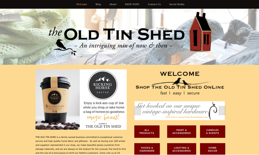 Click here to check out the new site we built for The Old Tin Shed, CanGift's Retailer of the Year!