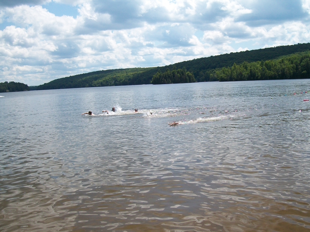 We love swimming at the public beach on Paudash Lake!