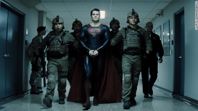 Superman being walked to his trial brings to mind the image of another trial 2,000 year ago.