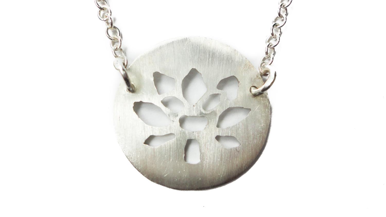 Sterling Silver Lotus Flower Necklace Angelflie Design