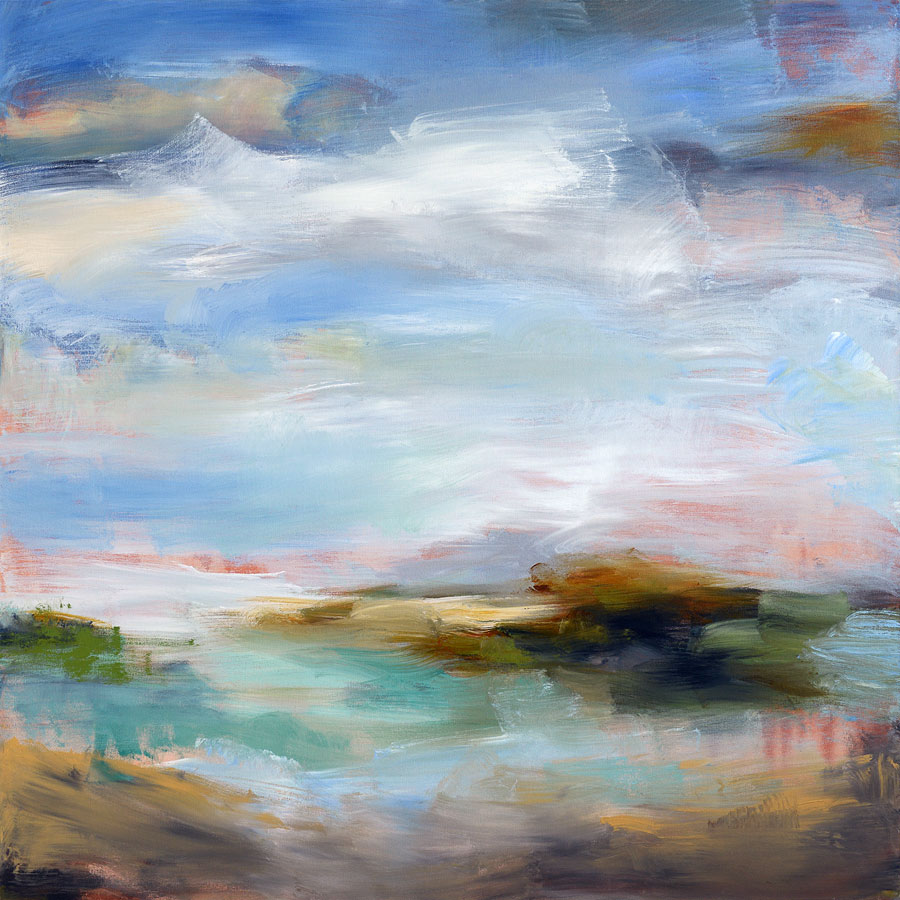 Entrance to the Water 60x60 Mixed media on canvas