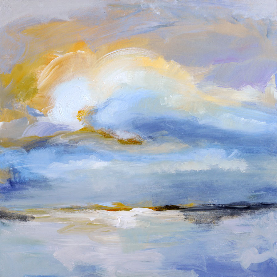 Before Dusk 3 48x48 Mixed media on canvas