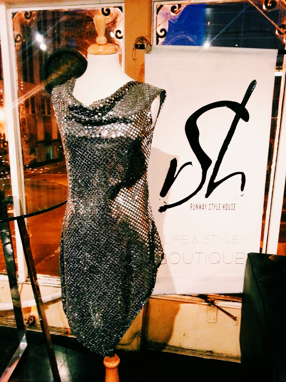 Silver Sequin Dress by Jeaja.
