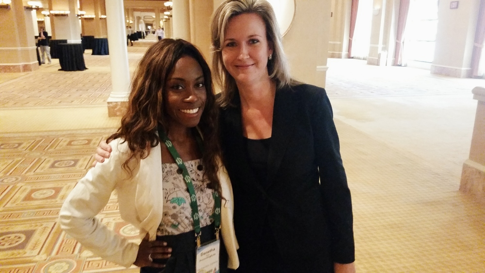 Me with Jennifer Warawa, VP at Sage North America. Such a beautiful and inspiring person.