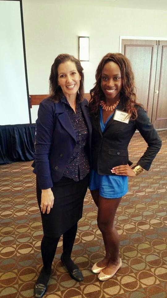 Me with my city's mayor. Mayor Libby Schaaf shared how Oakland business owners can best support the city's economic growth during the East Bay Women in Business Roundtable luncheon.