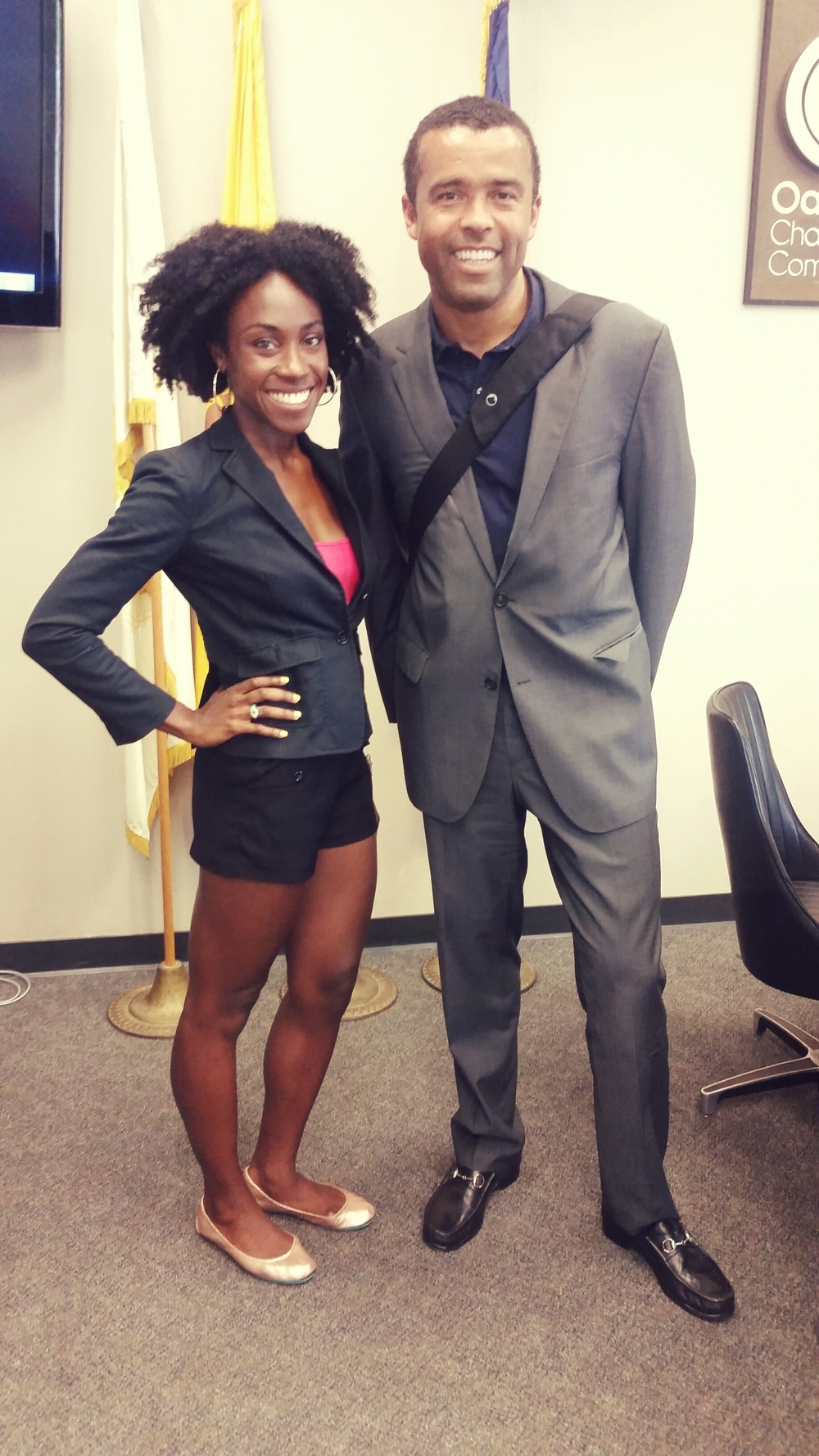 Me with Robert Ogilvie, SPUR's Oakland director. Rocking my  Tieks  flat, per usual.