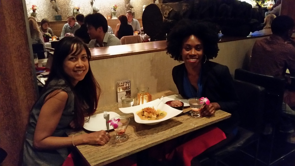 Gemma and myself catching up at Osha Thai in San Francisco.