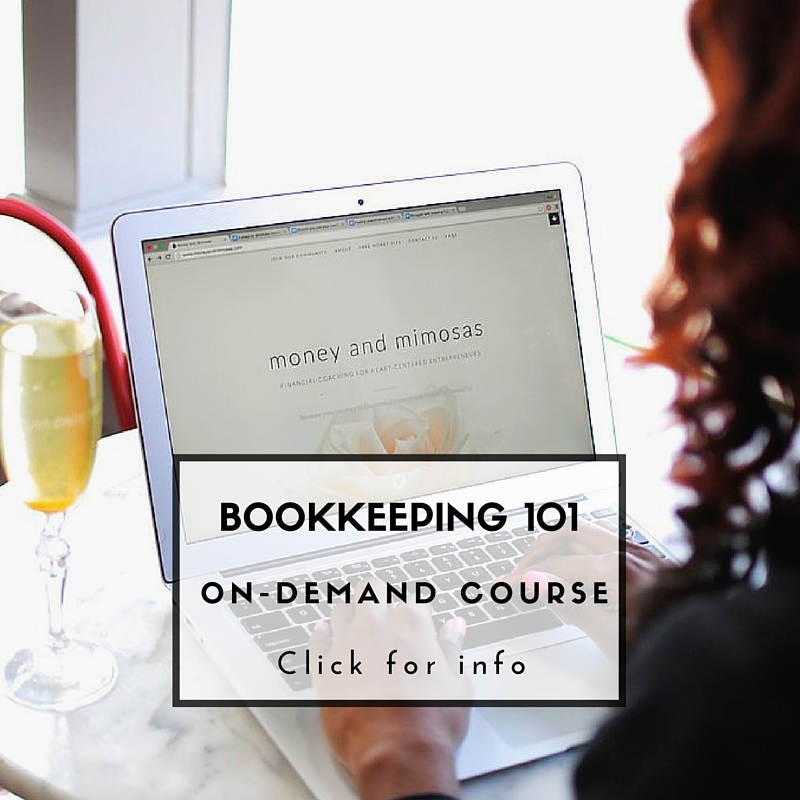Not sure where to start with your bookkeeping? Click the image to learn more about establishing healthy money practices.