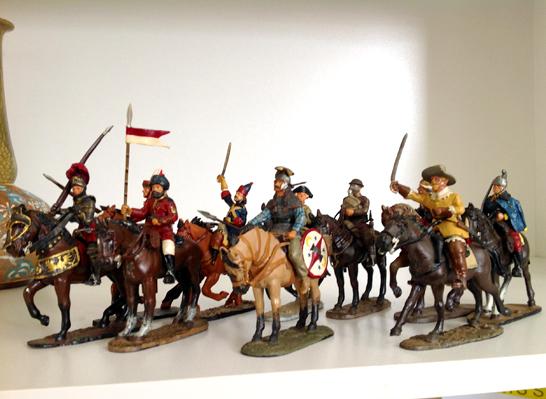 Diecast Handpainted Cavalrymen