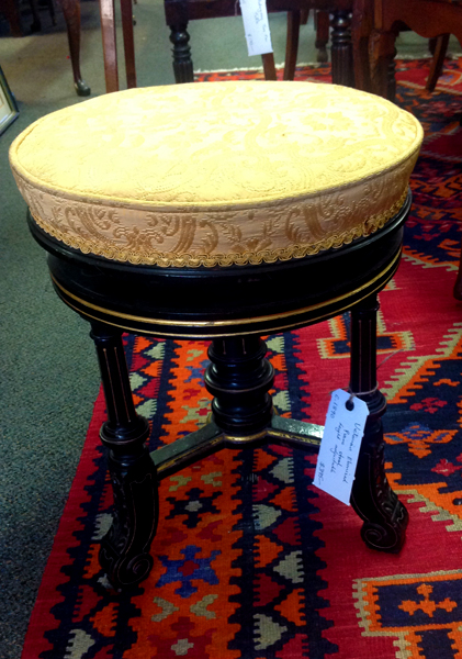 Victorian ebonies height adjustable music stool