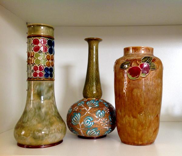Various Doulton vases