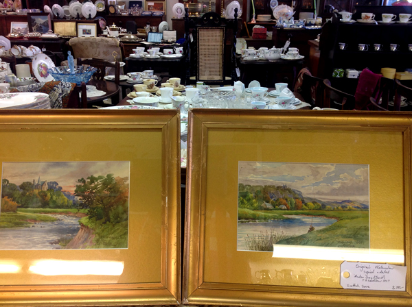 Pair original Scottish watercolours, signed, titled & dated. T H Laidlaw 1907