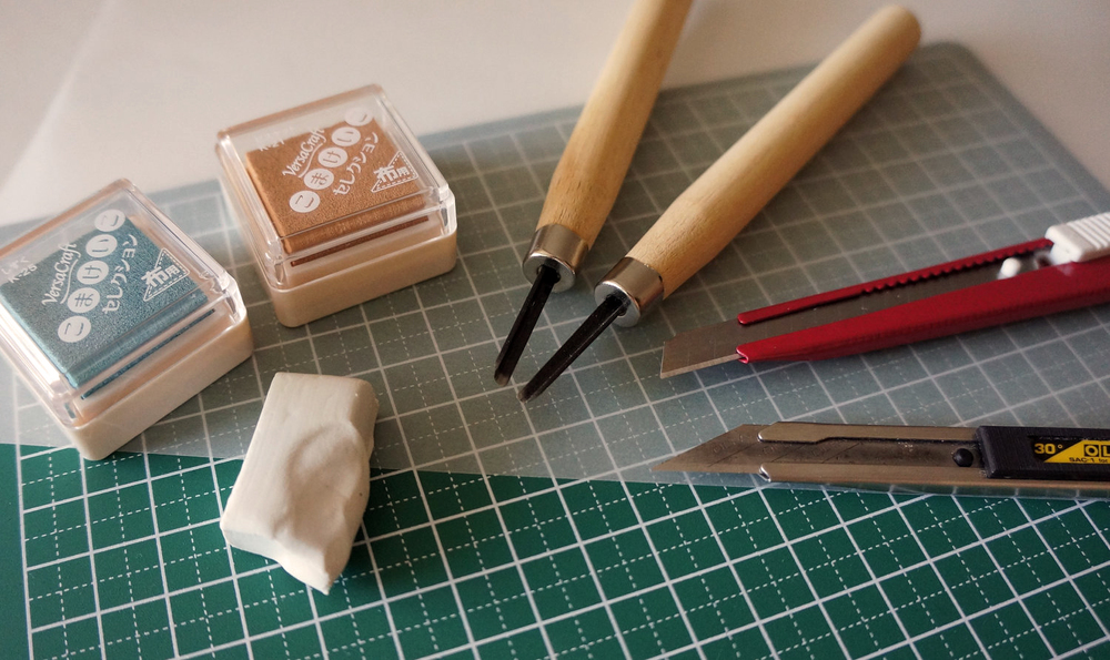 Tools of a rubber stamp crafter