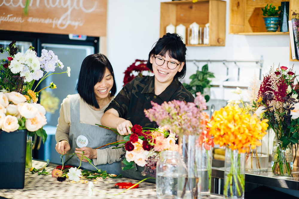 Lucy Siah and daughter, Josephine Lau of Floral Magic