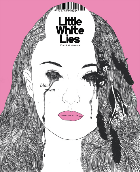 Black Swan (2013), Mei Kimura. Entry for D&AD's Little White Lies magazine cover