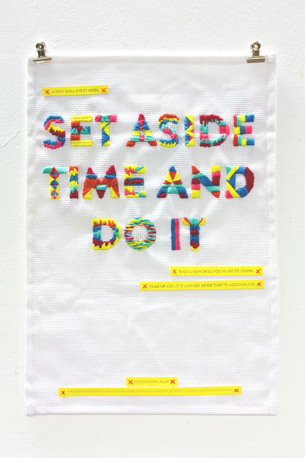 Set aside time and do it!