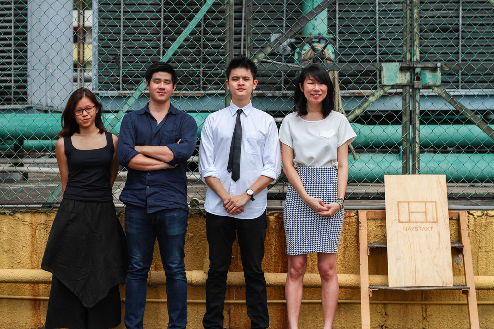 The HAYSTAKT Team with Joel Leong (second from left) and Melvin Tiong (third from left).